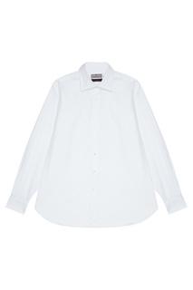Белая хлопковая сорочка Canali