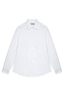 Белая сорочка из хлопка Canali
