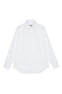Белая сорочка из сатина Canali
