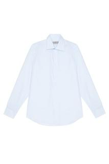 Голубая сорочка из хлопка Canali
