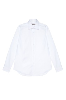Белая сорочка из хлопка в клетку Canali