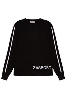 Джемпер с белым логотипом Zasport
