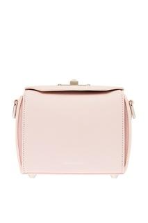 Розовая кожаная сумка с платком Alexander Mc Queen