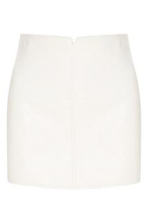 Белая юбка из эко-кожи Courreges