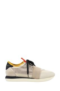 Бежевые комбинированные кроссовки Lola Cruz