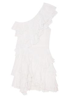 Белое платье из хлопкового шитья Isabel Marant