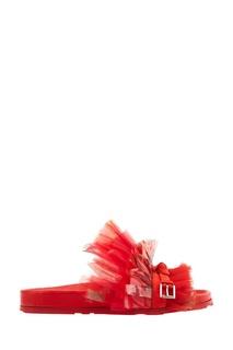 Красные сандалии с сеткой Alexander Mc Queen