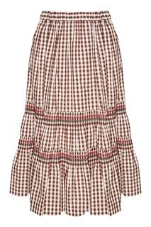 Коричневая юбка в клетку виши Comme des Garcons Girl