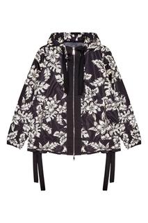 Черная куртка с контрастным принтом Moncler