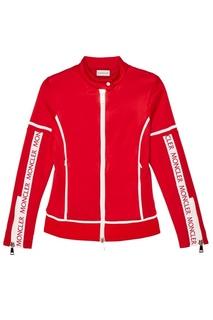 Красная олимпийка на молнии Moncler