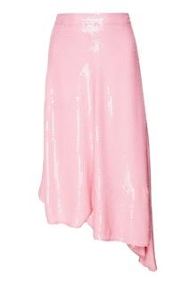 Розовая юбка с пайетками Msgm