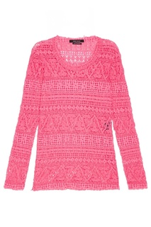 Розовая блузка из хлопкового гипюра Isabel Marant