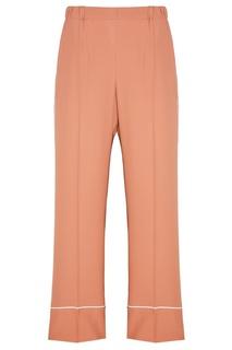 Бежевые широкие брюки No.21