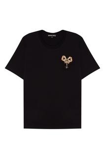 Черная футболка с бантом Markus Lupfer