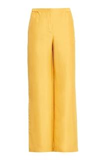 Желтые широкие брюки Alberta Ferretti