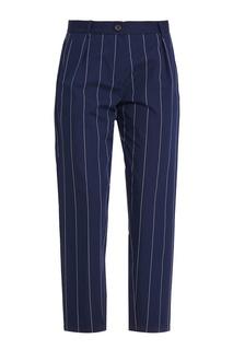 Укороченные брюки в полоску Erika Cavallini