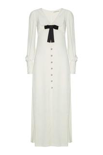 Платье с контрастным бантом Alessandra Rich