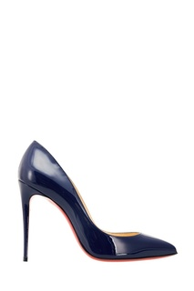 Синие лакированные туфли Pigalle Follies 100 Christian Louboutin