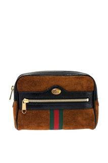 Замшевая поясная сумка Ophidia Small Gucci