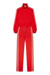Красный комбинезон с полосками по бокам Valentino