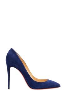 Синие замшевые туфли Pigalle Follies 100 Christian Louboutin