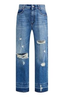 Синие джинсы со сквозными прорезями Stella Mc Cartney