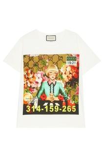 Хлопковая футболка с принтом Ignasi Monreal Gucci