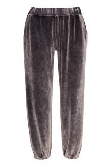 Серые брюки из хлопкового бархата T by Alexander Wang