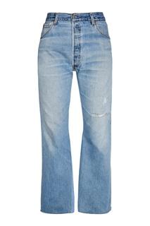 Прямые джинсы со сквозным разрывом Re/Done
