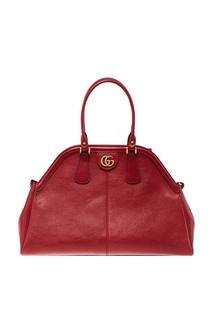 Красная кожаная сумка-саквояж Re(Belle) Gucci