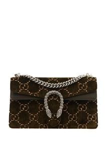 Зеленая бархатная сумка Dionysus Gucci