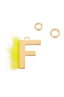 Подвеска с желтым мехом F Fendi