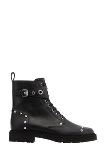 Кожаные ботинки с шипами Fendi