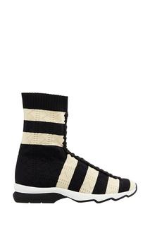 Высокие кроссовки из джерси Fendi