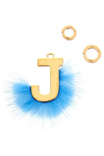 Подвеска с синим мехом J Fendi