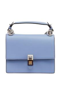 Голубая сумка из кожи Kan I Mini Fendi