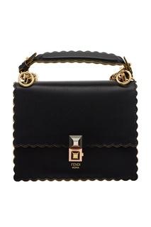 Черная кожаная сумка Kan I Small Fendi