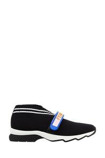 Черные кроссовки из джерси с логотипом Fendi