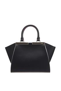Черная кожаная сумка 3Jours Mini Fendi