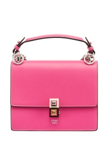 Розовая сумка из кожи Kan I Mini Fendi