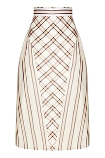 Комбинированная юбка со сборками Fendi