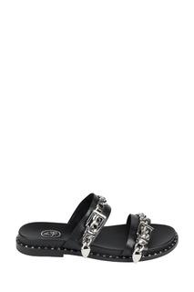 Черные сандалии с цепочками Meika Ash