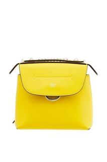 Желтый кожаный рюкзак Back to Shool Fendi