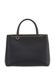 Черная кожаная сумка Petit 2Jours Fendi