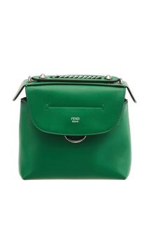 Зеленый кожаный рюкзак Back to School Fendi