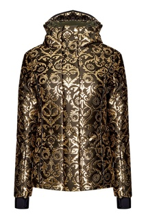 Куртка с золотистыми жаккардовыми узорами Fendi