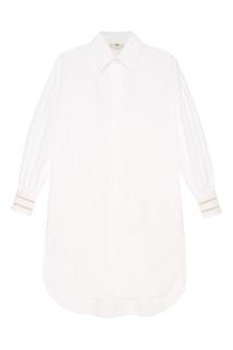 Платье-рубашка из хлопка Fendi