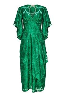 Платье с геометрическим рисунком Fendi