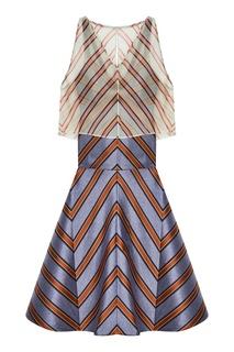 Платье с двойным верхом Fendi
