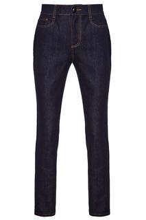Синие прямые джинсы Fendi